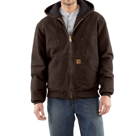 Carhartt Active Jacket - Quilt-Lined, Factory Seconds (For Tall Men) in Dark Brown