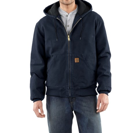 Carhartt Active Jacket - Quilt-Lined, Factory Seconds (For Tall Men) in Midnight