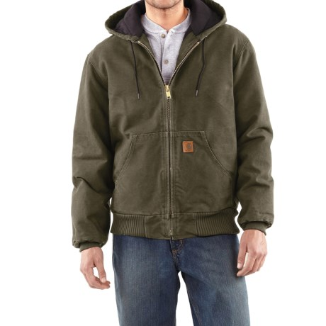 Carhartt Active Jacket - Quilt-Lined (For Tall Men) in Army Green