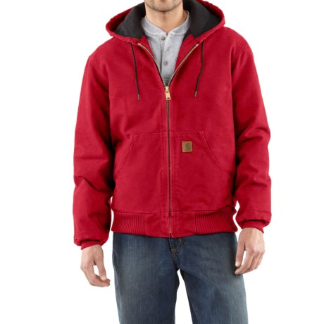 Carhartt Active Jacket - Quilt-Lined (For Tall Men) in Dark Red