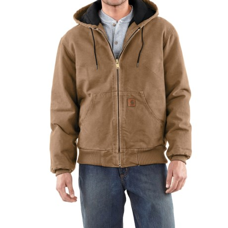 Carhartt Active Jacket - Quilt-Lined (For Tall Men) in Frontier Brown