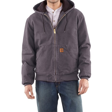 Carhartt Active Jacket - Quilt-Lined (For Tall Men) in Gravel