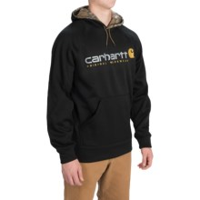 Carhartt Alberton Graphic Hoodie (For Men) in Black W/Camo Lined Hood - 2nds