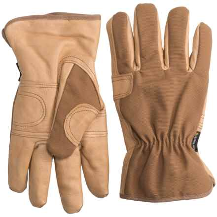 Carhartt All Around Gloves - Cotton Duck and Leather (For Men) in Brown Barley - Closeouts