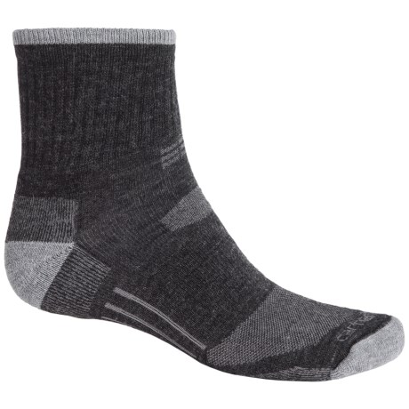 Carhartt All-Terrain Socks - Quarter Crew (For Men) in Charcoal Heather