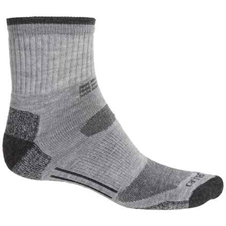Carhartt All-Terrain Socks - Quarter Crew (For Men) in Heather Grey - Closeouts