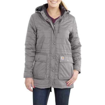 Carhartt Amoret Long Jacket - Insulated, Flannel Lined, Factory Seconds (For Women) in Asphalt - 2nds