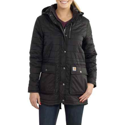 Carhartt Amoret Long Jacket - Insulated, Flannel Lined, Factory Seconds (For Women) in Black - 2nds