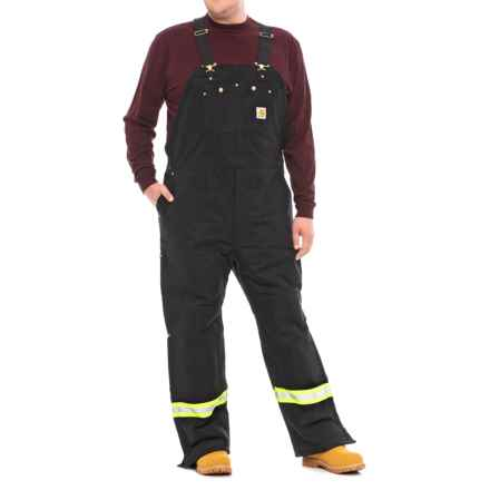 Carhartt Arctic High-Visibility Bib Overalls - Insulated Factory 2nds (For Big and Tall Men) in Black - 2nds