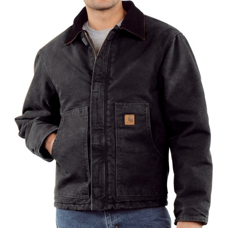 Carhartt Arctic Jacket - Sandstone (For Tall Men) in Black