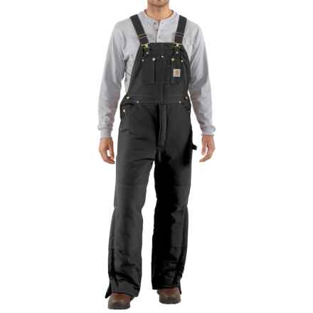 Carhartt Arctic Quilt-Lined Bib Overalls - Factory Seconds (For Men) in Black - 2nds