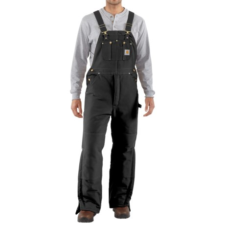 Carhartt Arctic Quilt-Lined Bib Overalls - Factory Seconds (For Men) in Black