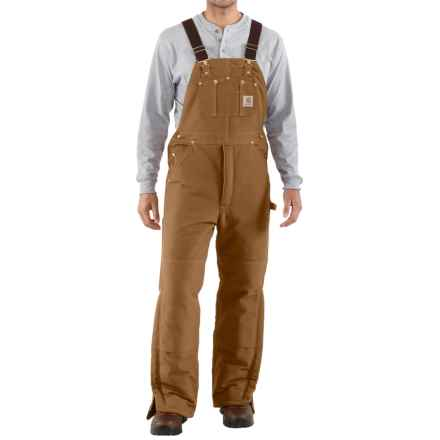 Carhartt Arctic Quilt-Lined Bib Overalls - Factory Seconds (For Men) in Carhartt Brown - 2nds