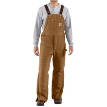 Carhartt Arctic Quilt-Lined Bib Overalls (For Men) in Carhartt Brown - 2nds