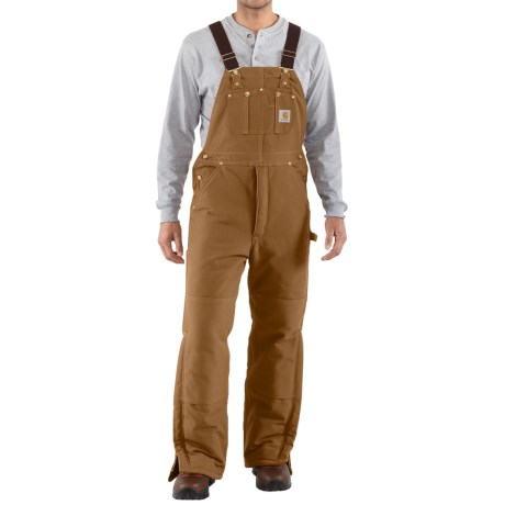 Carhartt Arctic Quilt Lined Bib Overalls For Men