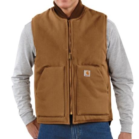 Carhartt Arctic Vest - Quilt Lined (For Men) in Carhartt Brown