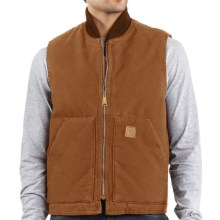 Carhartt Arctic Vest - Sandstone, Quilt-Lined (For Big Men) in Carhartt Brown - 2nds