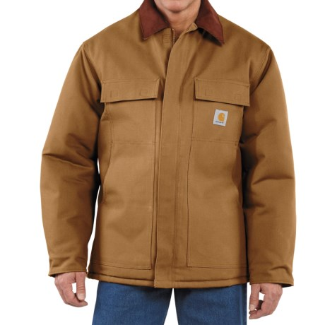 Carhartt Arctic Weight Traditional Coat (For Men) in Carhartt Brown