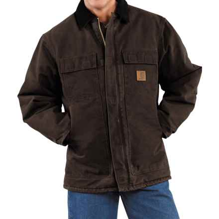 Carhartt Arctic Work Coat - Factory Seconds (For Men) in Dark Brown - 2nds
