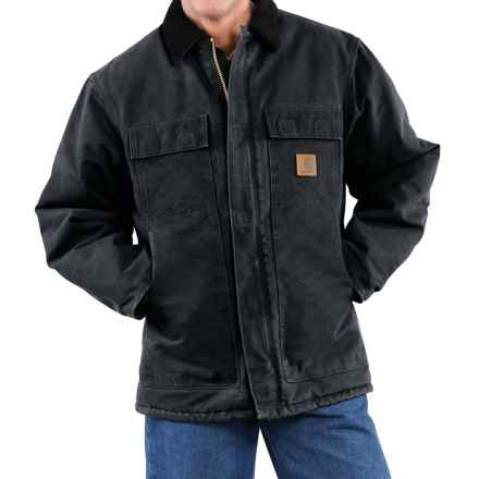 Carhartt Arctic Work Coat - Factory Seconds (For Tall Men) in Black - 2nds