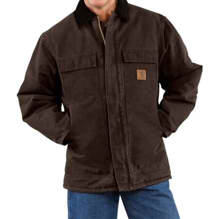 Carhartt Arctic Work Coat - Factory Seconds (For Tall Men) in Dark Brown - 2nds