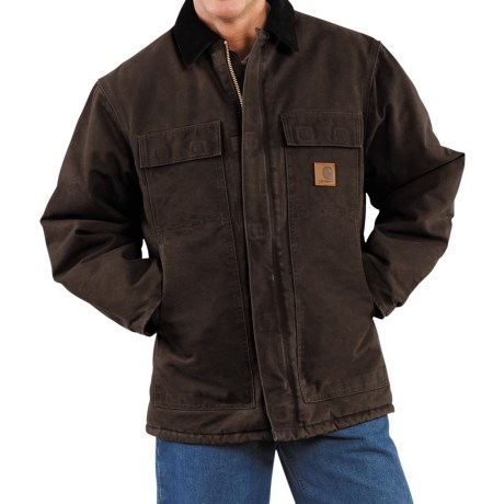 Carhartt Arctic Work Coat (For Men) in Dark Brown
