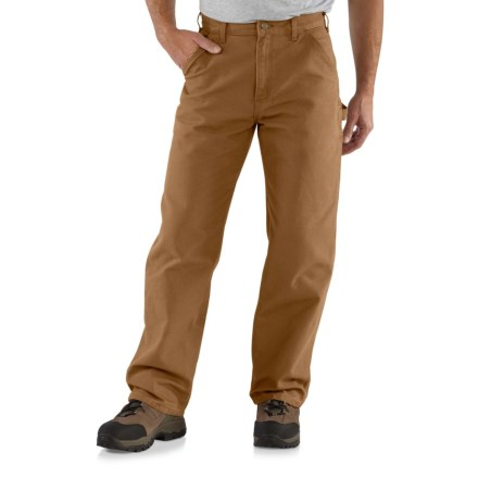 fda0a968ec7b4f Carhartt B11 Washed Duck Work Pants - Factory Seconds (For Men) in Carhartt  Brown