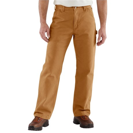b6799763 Carhartt B111 Washed Duck Dungarees - Flannel Lined, Factory Seconds (For  Men) in