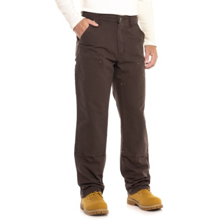 1a3a0244d42de Carhartt B136 Washed Duck Double-Front Dungaree Jeans (For Men) in Dark  Brown