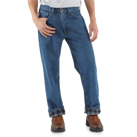 09e499bf Carhartt B172 Flannel-Lined Jeans - Relaxed Fit, Straight Leg, Factory  Seconds (