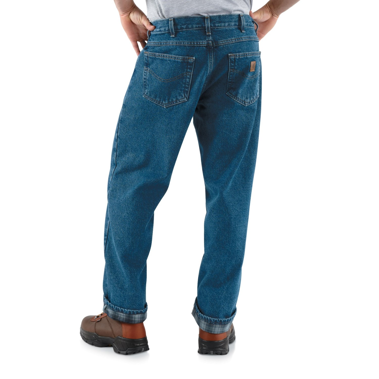 04485fbc Carhartt B172 Flannel-Lined Jeans - Straight Leg, Factory Seconds (For Men)