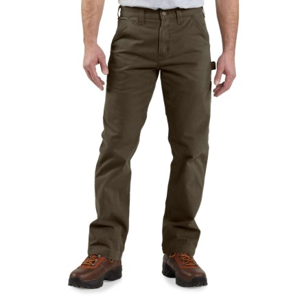371abdd3ac Carhartt B324 Washed Twill Work Pants - Factory Seconds (For Men) in Dark  Coffee