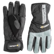 Carhartt Bad Axe Gloves - Waterproof, Insulated (For Men and Women) in Black/Grey - Closeouts