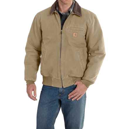 Carhartt Bankston Sandstone Duck Jacket - Factory Seconds (For Big and Tall Men) in Cottonwood - 2nds