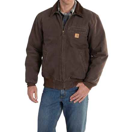 Carhartt Bankston Sandstone Duck Jacket - Factory Seconds (For Big and Tall Men) in Dark Brown - 2nds