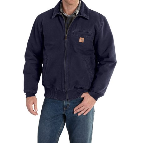 Carhartt Bankston Sandstone Duck Jacket - Factory Seconds (For Big and Tall Men) in Midnight