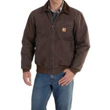 Carhartt Bankston Sandstone Duck Jacket (For Big and Tall Men) in Dark Brown - 2nds