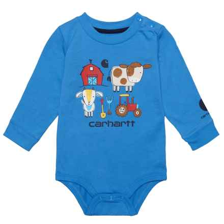 Carhartt Barnyard Friends Baby Bodysuit - Long Sleeve (For Infants) in Medium Royal - Closeouts