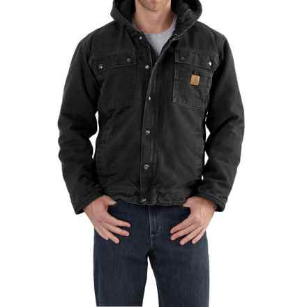 Carhartt Bartlett Sherpa-Lined Jacket - Factory Seconds (For Big and Tall Men) in Black - 2nds