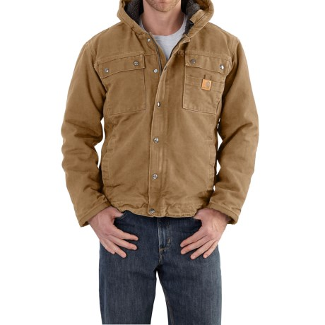Carhartt Bartlett Sherpa-Lined Jacket - Factory Seconds (For Big and Tall Men) in Frontier Brown