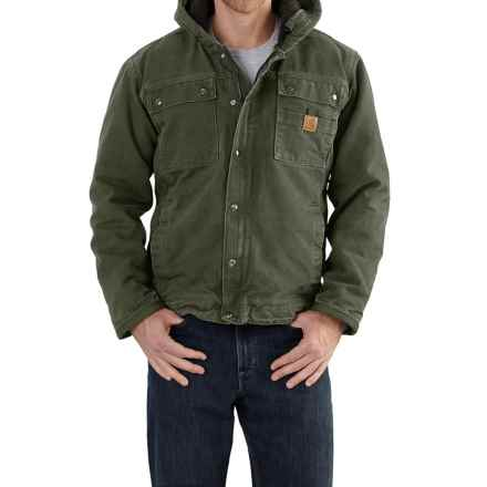Carhartt Bartlett Sherpa-Lined Jacket - Factory Seconds (For Big and Tall Men) in Moss - 2nds