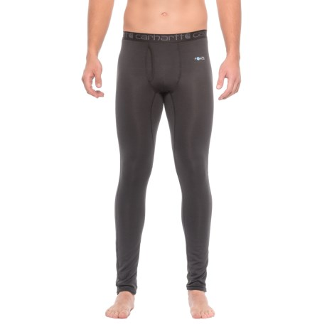 Carhartt Base Force® Cool-Weather Base Layer Pants - Factory Seconds (For Big and Tall Men) in Black