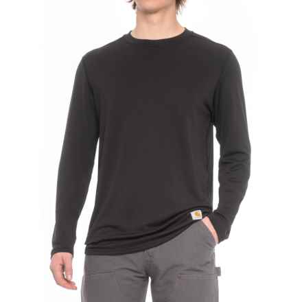 Carhartt Base Force® Cool-Weather Shirt - Long Sleeve, Factory Seconds (For Big and Tall Men) in Black - Closeouts