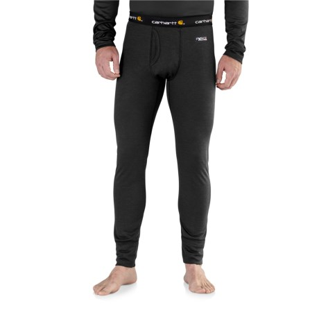 Carhartt Base Force Extremes® Cold-Weather Base Layer Pants - Factory Seconds (For Big and Tall Men) in Black