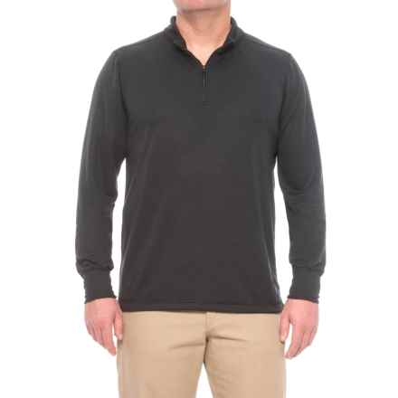 Carhartt Base Force Extremes® Cold-Weather Shirt - Zip Neck, Long Sleeve (For Big and Tall Men) in Black - Closeouts