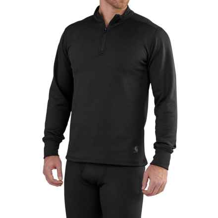 Carhartt Base Force Extremes® Super-Cold-Weather Shirt - Zip Neck, Long Sleeve (For Big and Tall Men) in Black - Closeouts
