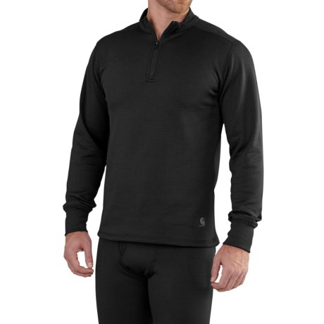 Image of Carhartt Base Force Extremes(R) Super-Cold-Weather Shirt - Zip Neck, Long Sleeve (For Big and Tall Men)