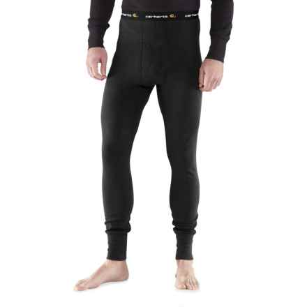 Carhartt Base Force® Super-Cold-Weather Cotton Base Layer Pants - Factory Seconds (For Big and Tall Men) in Black - 2nds
