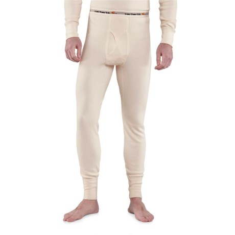 Carhartt Base Force® Super-Cold-Weather Cotton Base Layer Pants - Factory Seconds (For Big and Tall Men) in Natural