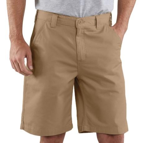 Carhartt Basic Cotton Work Shorts (For Men) in Golden Khaki